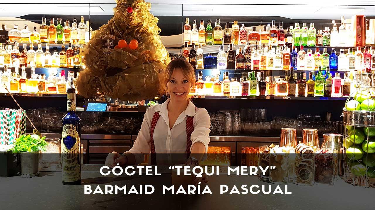 Cóctel con tequila de la barmaid María Pascual en la coctelería San Mateo Circus (Madrid)