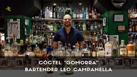 Cóctel con tequila del bartender Leo Campanella en la coctelería de Tres Bocas (Madrid)