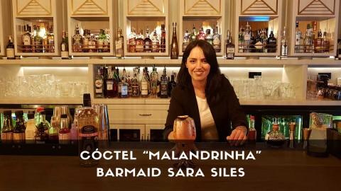 Cóctel con cachaça de la barmaid Sara Siles en la coctelería de Dogma (Madrid)