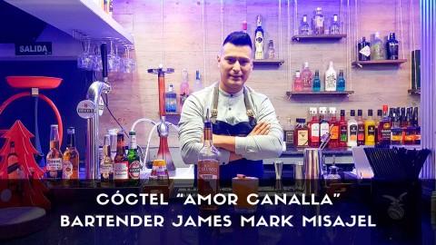 Cóctel con ron del bartender James Mark Misajel en la coctelería Marklie (Madrid)