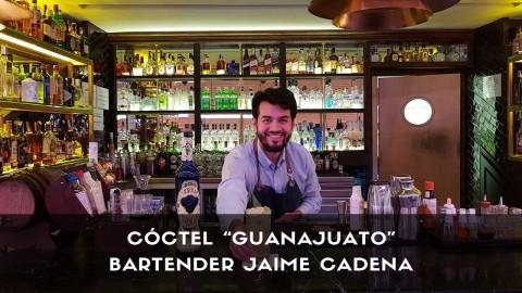 Cóctel con tequila del bartender Jaime Cadena en la coctelería El Palco de Platea (Madrid)
