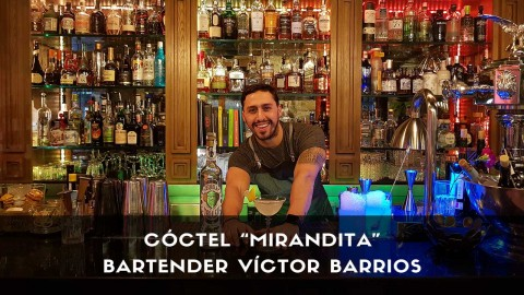 Cóctel con tequila del bartender Víctor Barrios en la coctelería de Miranda (Madrid)