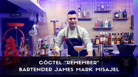 Cóctel con pisco del bartender James Mark Misajel en la coctelería Marklie (Madrid)