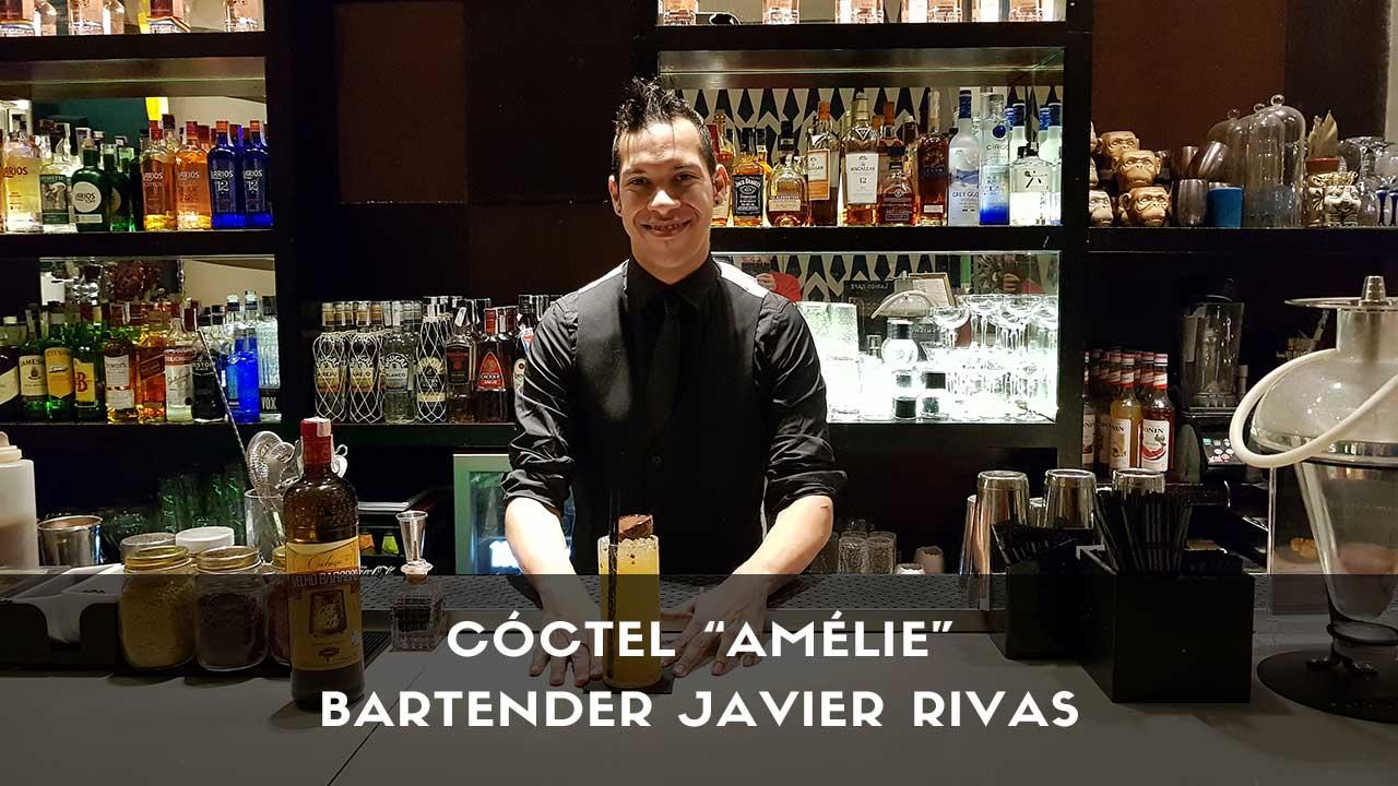Cóctel con cachaça del bartender Javier Rivas en la coctelería Larios Café (Madrid)