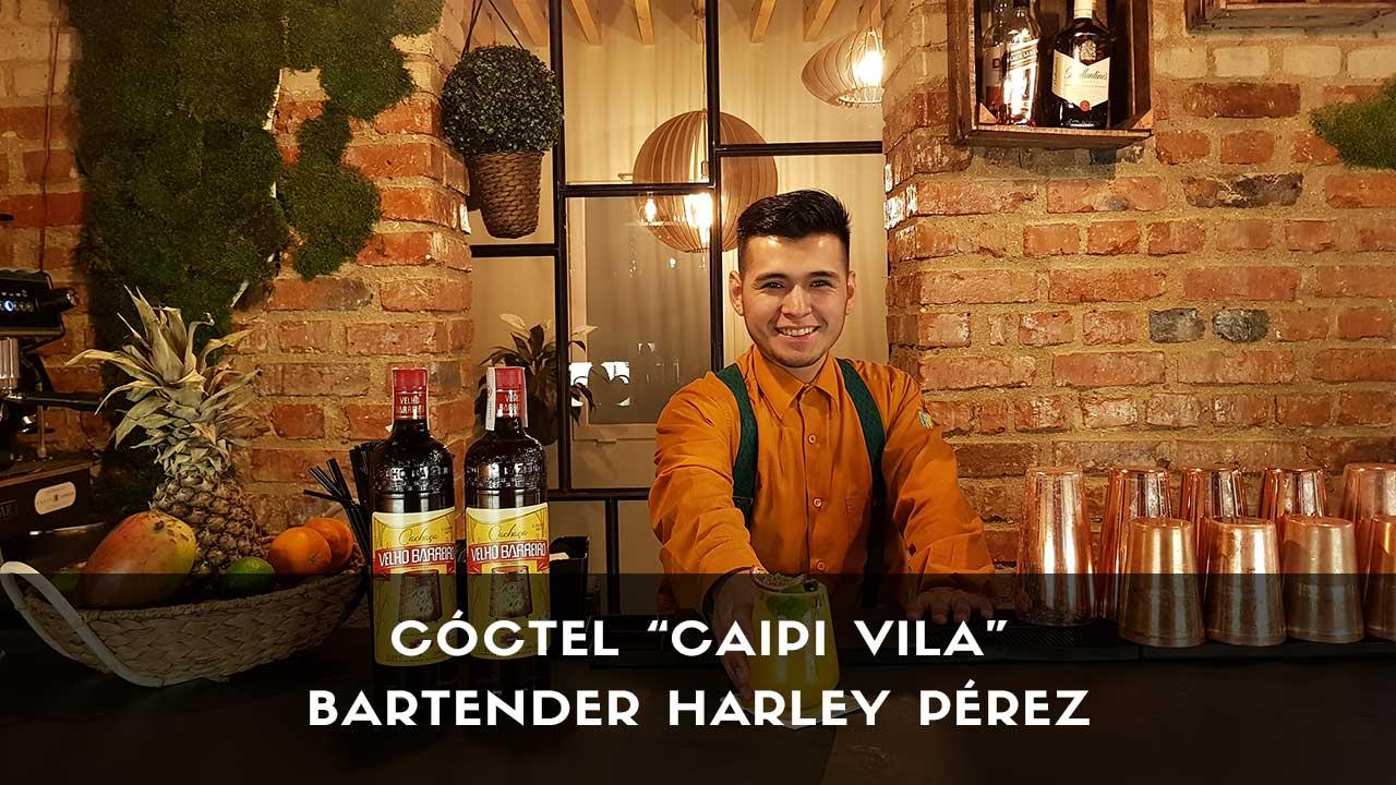 Cóctel con cachaça del bartender Harley Pérez en la coctelería de Vila Brasil (Madrid)