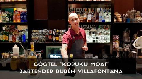 Cóctel con mezcal del bartender Rubén Villafontana en la coctelería Larios Café (Madrid)