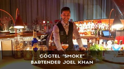 Cóctel con tequila del bartender Joel Khan en la coctelería de NuBel (Madrid)