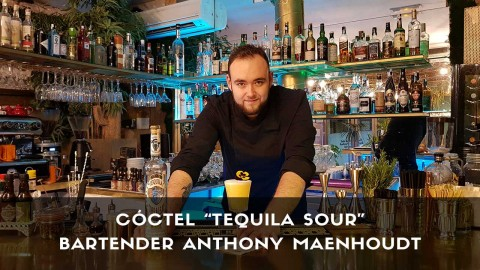 Cóctel con tequila del bartender Anthony Maenhoudt en la coctelería de Amargo (Madrid)